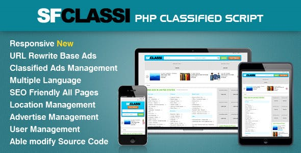 SfClassi Responsive PHP Classified Script