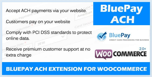 BluePay ACH Payment Gateway For WooCommerce