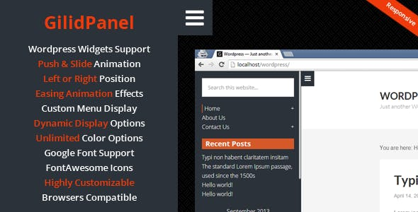 GilidPanel - WordPress Sliding Panel Sidebar