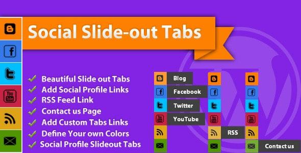 Social Slide-out Tab Menus: WordPress Plugin - CodeCanyon Item for Sale