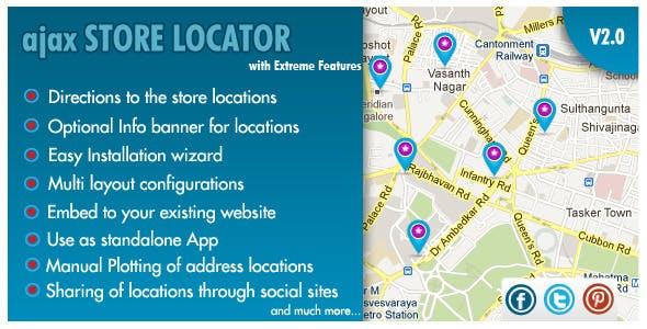 AJAX Store Locator - v 2.0