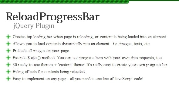 ReloadProgressBar jQuery Plugin - CodeCanyon Item for Sale