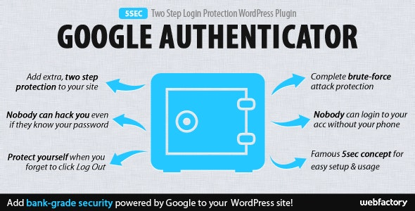 5sec Google Authenticator 2-Step Login Protection - CodeCanyon Item for Sale