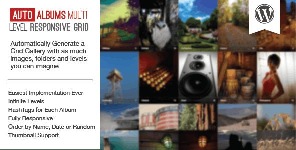 WP Auto Photo Albums – Multi Level Image Grid - CodeCanyon Item for Sale