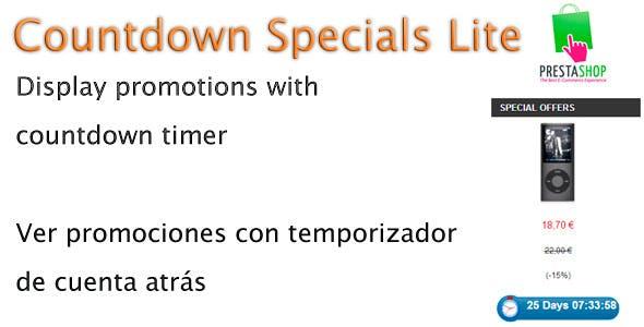 CountDowndSpecials Lite Prestashop Module