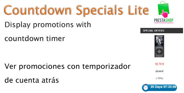CountDowndSpecials Lite Prestashop Module - CodeCanyon Item for Sale