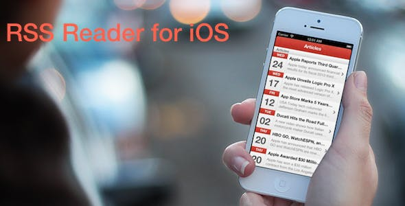 Make A Rss Reader App With Mobile App Templates from CodeCanyon