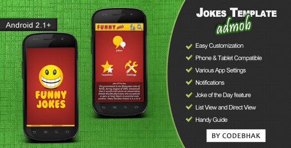 Jokes App Template with AdMob