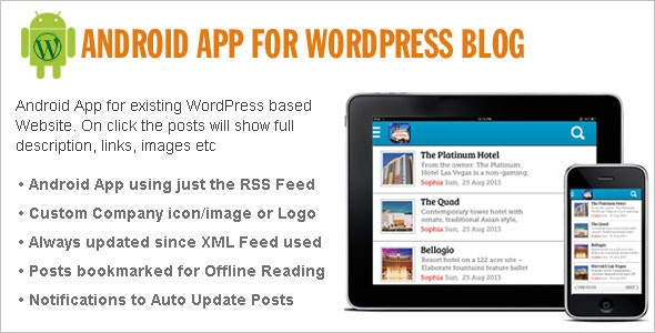Native Android App for WordPress Site - CodeCanyon Item for Sale