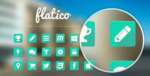 FlatIco - Long Shadow Flat Icon Generator