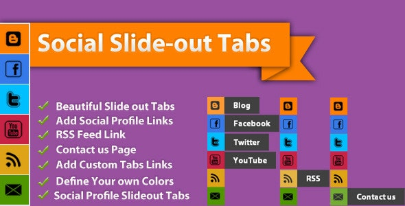 Social Slide-out Tab Menus - CodeCanyon Item for Sale