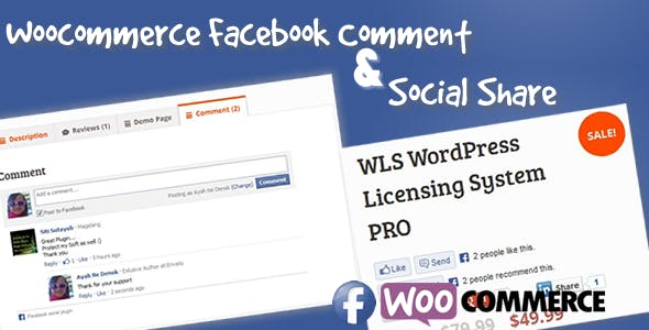 Facebook Commenter & Social Share for Woocommerce