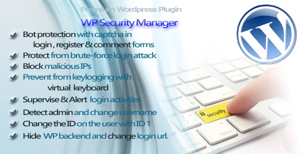 WP Security Manager - CodeCanyon Item for Sale