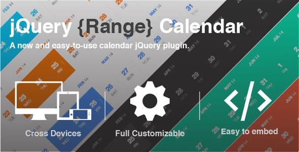 jQuery Range Calendar Plugin - CodeCanyon Item for Sale