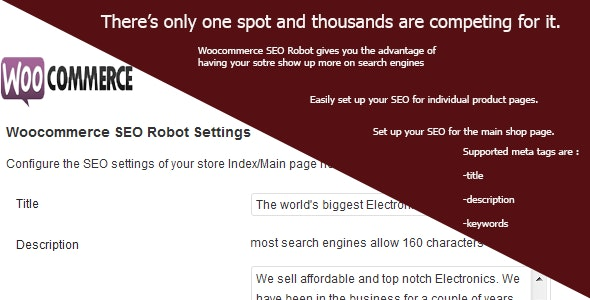Woocommerce SEO Robot - CodeCanyon Item for Sale