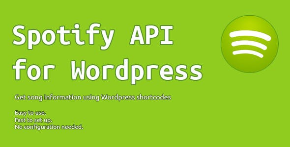 Spotify API for WordPress