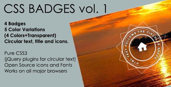 Flat Badges Vol. 1 - CodeCanyon Item for Sale