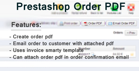 Prestashop Order Pdf Email / Download