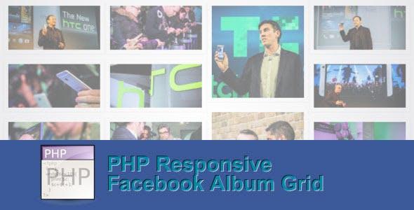 Responsive PHP Facebook Album Grid
