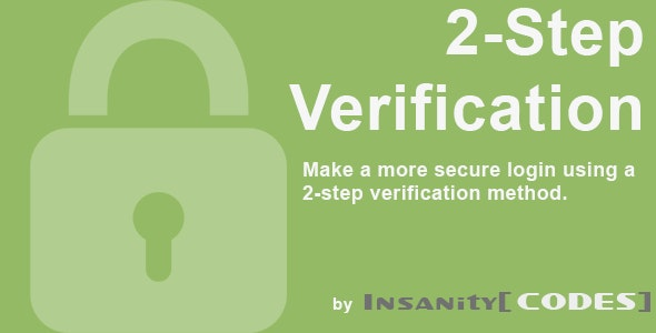 2-Step Verification/Authentication by InsanityCodes - CodeCanyon Item for Sale