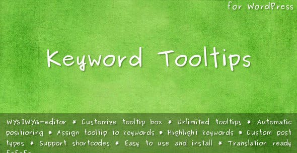 31388e01dcd Keyword Tooltips for WordPress - CodeCanyon Item for Sale