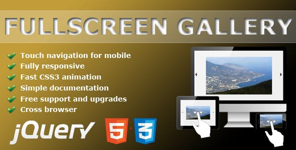 Fullscreen gallery - jQuery plugin