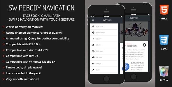 Swipebody | Sidebar Menu for Mobiles & Tablets - CodeCanyon Item for Sale