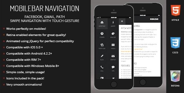 Mobilebar | Sidebar Menu for Mobiles & Tablets - CodeCanyon Item for Sale