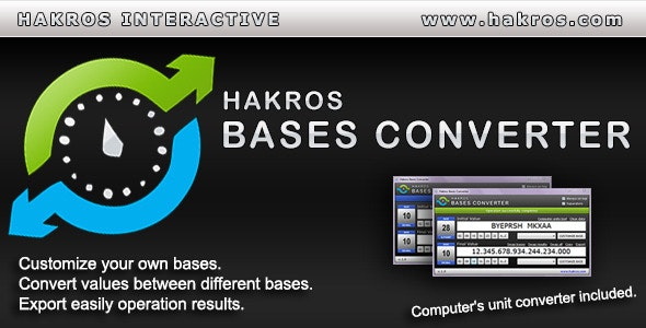 Hakros Bases Converter - CodeCanyon Item for Sale