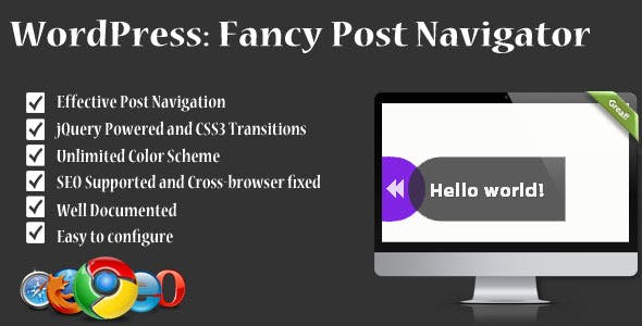 Fancy Post Navigator: WordPress Navigation Plugin