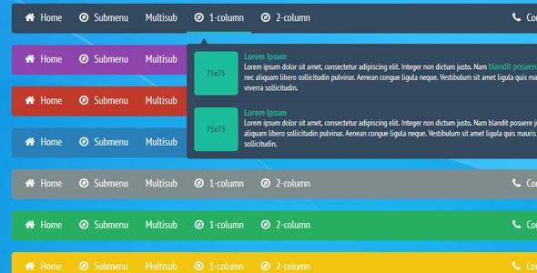 CSS3 responsive A-menu