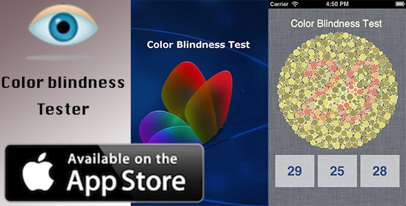Color Blindness Tester - iOS App - CodeCanyon Item for Sale