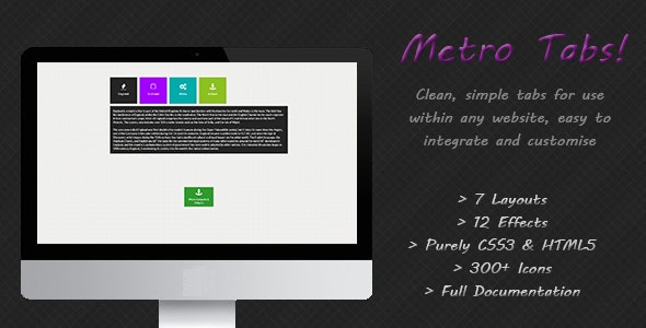 Metro Tabs - CodeCanyon Item for Sale