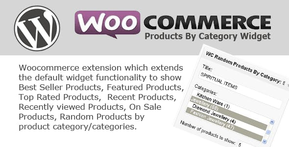 WC Products By Category Widget