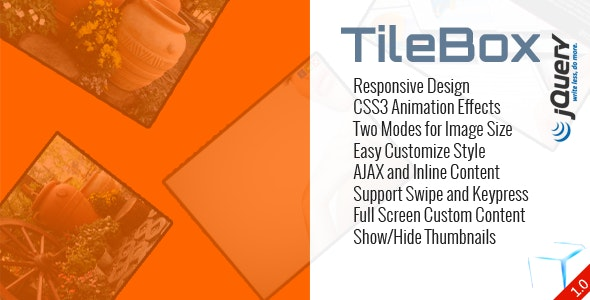 TileBox jQuery - Modern Responsive LightBox - CodeCanyon Item for Sale
