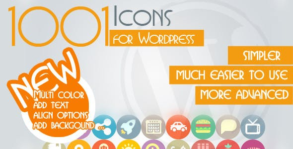 1001 Multicolored Icons – For WordPress
