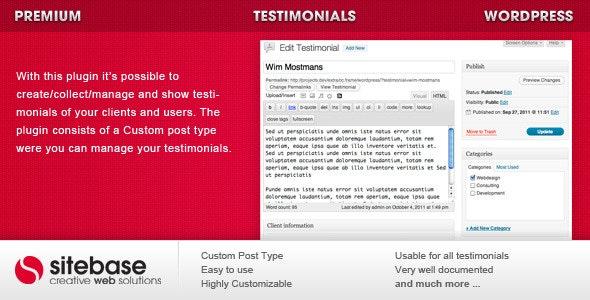 Testimonials for WordPress - CodeCanyon Item for Sale