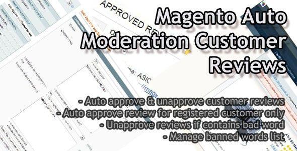 Magento Auto  Moderation Customer Reviews