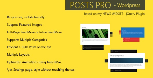 Posts Pro - Wordpress Plugin - CodeCanyon Item for Sale