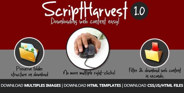 Script Harvest - Images And Script Downloader