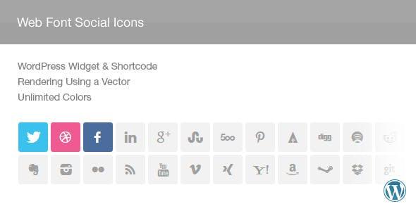 Web Font Social Icons Widget & Shortcode