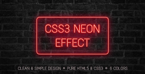 CSS3 Neon Effect by Trissia | CodeCanyon