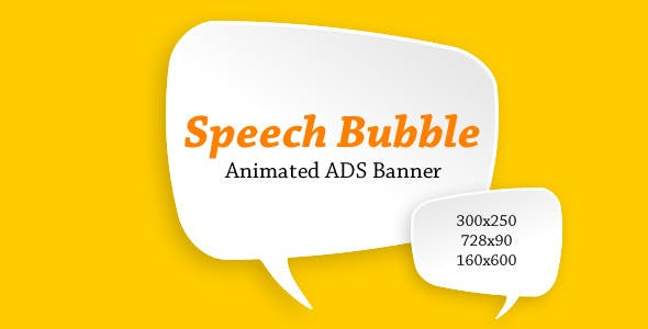 Speech Bubble Ads Banner