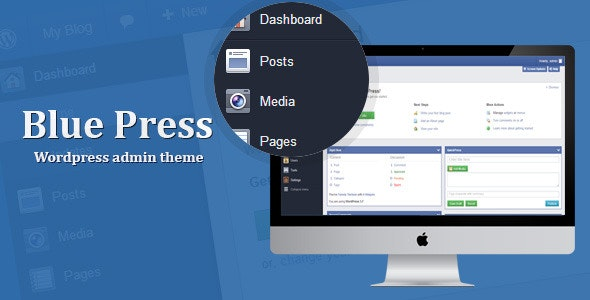 Blue Press - WordPress Admin Theme - CodeCanyon Item for Sale