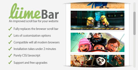 liimeBar: An improved scroll bar for your website