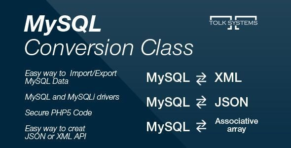 MySQL Conversion Class - CodeCanyon Item for Sale