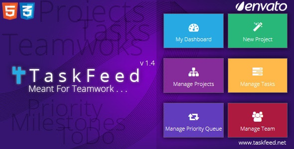 Taskfeed Project Management Software - CodeCanyon Item for Sale