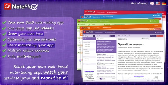 NotePlex - Your Own SaaS Note-Taking App - CodeCanyon Item for Sale