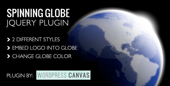 Spinning Globe jQuery Plugin - CodeCanyon Item for Sale