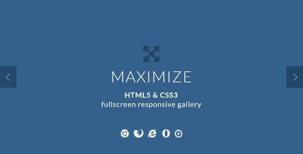 Maximize - HTML5 & CSS3 Fullscreen Image Gallery